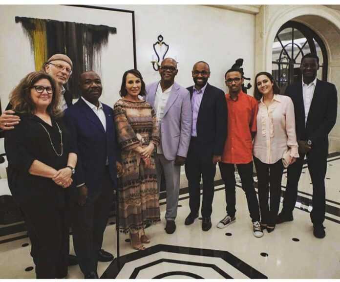 Gabon: Ali Bongo et sa famille reçoivent Samuel Jackson (photo)
